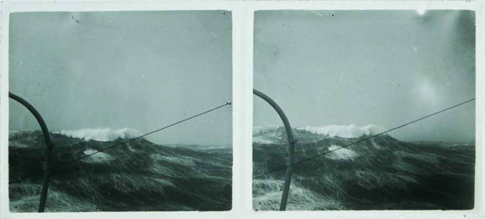 hundred-year-old stereo glass plates looks like Caspar David Friedrich paintings