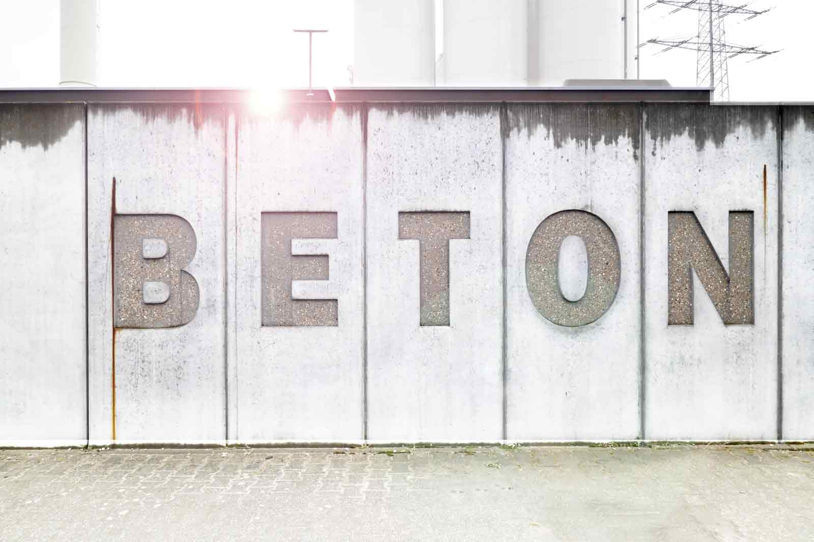 Beton Font in Beton by Martin Blum