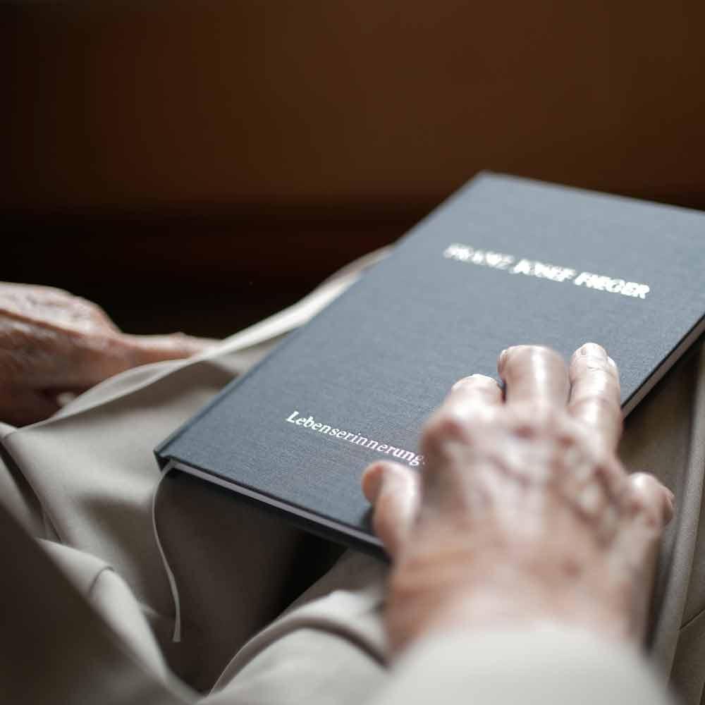 mindwork_ book of life from Franz Josef Fieger, a hundred-year-old gentelman
