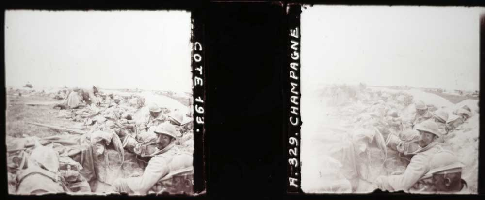 mindwork stereoscopic glass positive made in WWI