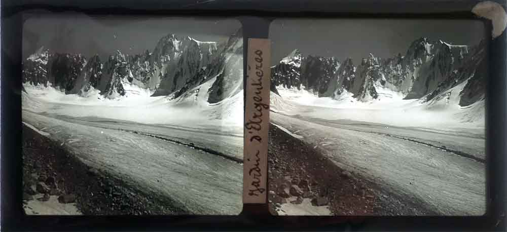 MIND WORK©  100 years old stereoscopic glass positive from a glacier