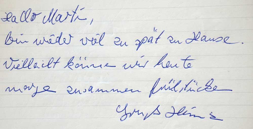 Martin Blum Mind Work Erinnerung an Heinz Cornrads note